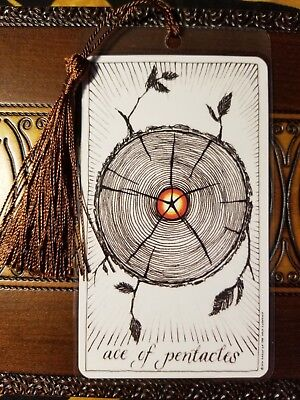 Bookmark, The Wild Unknown Tarot Card Deck, Ace of Pentacles, New, Gift