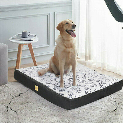 Jumbo Pet Dog Bed Extra Large Waterproof Soft House Crate Bed Kennel Zip Cover