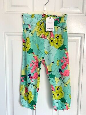 BNWT NEXT girls multi-colour harem trousers 2-3 years