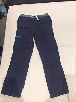 Mini Boden Navy Combat Style Lined Trousers Age 9 (Excellent Condition)