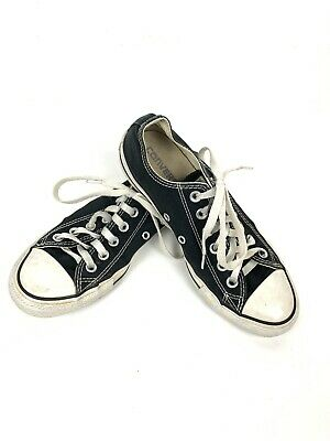 Converse All Star Chuck Taylor Classic Ox Black M9166C Mens Size 5 Womens Size 7