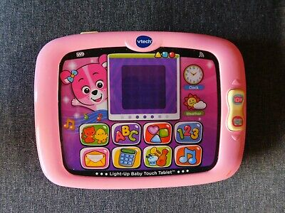 Vtech Light-Up Baby Touch Tablet Educational Play Toy - Pink Learning Toy System