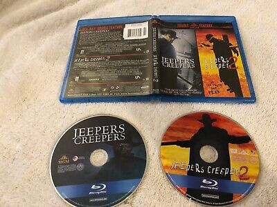 Jeepers Creepers + Jeepers Creepers 2 Double Feature Blu Ray Like New Rare Oop