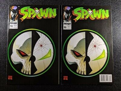 SPAWN #12 Newsstand & Direct Edition Variant Covers! Rare & HTF in one listing!
