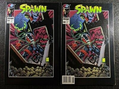 SPAWN #18 Newsstand & Direct Edition Variant Covers! Rare & HTF in one listing!