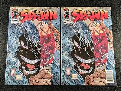 SPAWN #37 Newsstand & Direct Edition Variant Covers! Rare & HTF in one listing!