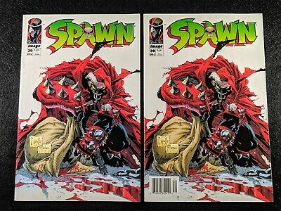 SPAWN #39 Newsstand & Direct Edition Variant Covers! Rare & HTF in one listing!