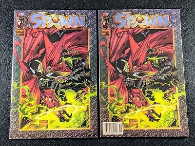 SPAWN #50 Newsstand & Direct Edition Variant Covers! Rare & HTF in single lot!
