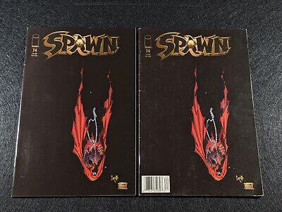 SPAWN #74 Newsstand & Direct Edition Variant Covers! Rare & HTF in single lot!