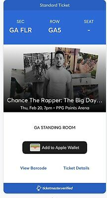 2 Chance The Rapper Tickets PPG PAINTS ARENA: SOLD OUT
