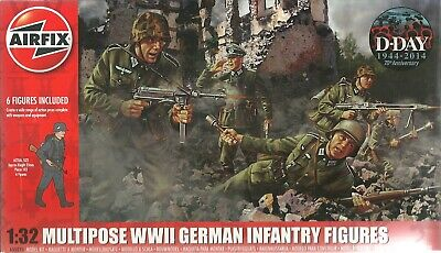 Pinsel Cement 1:32 Airfix 55212 Multipose WWII US Army Infantry 6 x Farbe