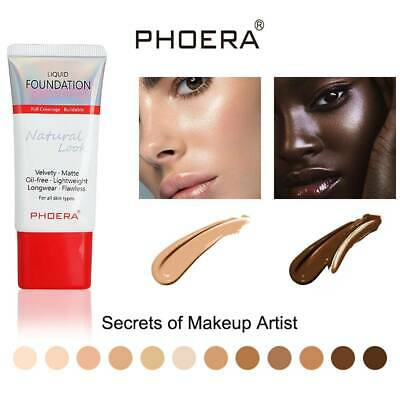 PHOERA Liquid Foundation Full Coverage Velvety Matte Lasting Moisturizing Makeup