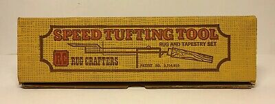 Vintage RC Rug Crafters Speed Tufting Tool Complete Set w/ Instructions & Box