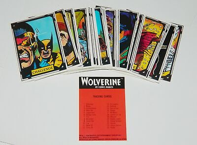 Marvel Comics Wolverine Set of 50 Trading Cards 1988 Comic Images NEAR MINT