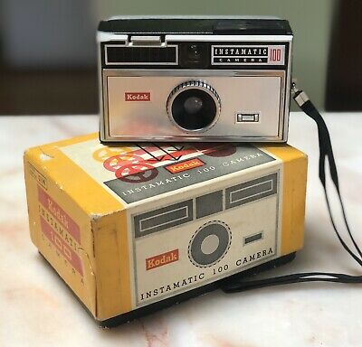 Vintage 1963 Kodak Instamatic 100 Camera Photography Film In Original Box