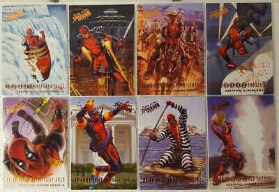 2018 Fleer Ultra Spider-Man Trading Card Set DEADPOOL Across America  ( 10 )