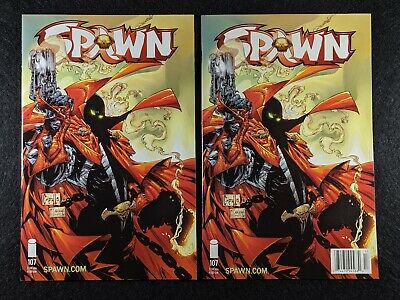 SPAWN #107 Newsstand & Direct Edition Variant Covers! Rare & HTF in single lot!