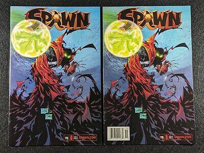 SPAWN #119 Newsstand & Direct Edition Variant Covers! Rare & HTF in single lot!