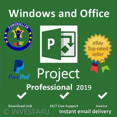 Microsoft Project Professional 2019 License Key 1 PC Download Link🔥16s Delivery