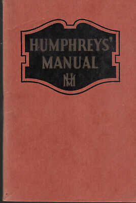 Humphreys 77 Homeopathic Medicine Co 1944 Manual Ailments & Cures 80 Pages