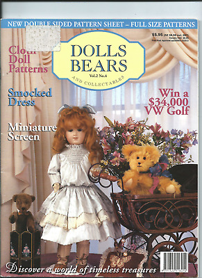 MAGAZINE DOLLS AND BEARS & COLLECTIONS vol 2#4 see scan fo contents