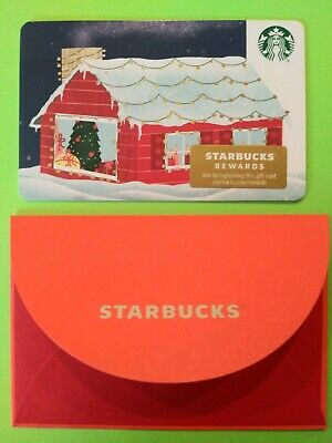 Starbucks gift card 2019 Christmas Holiday Home. No Value. Beautiful Card. New.