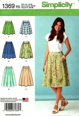 Simplicity Sewing Pattern 1369 Skirts in Ladies Sizes 14-22