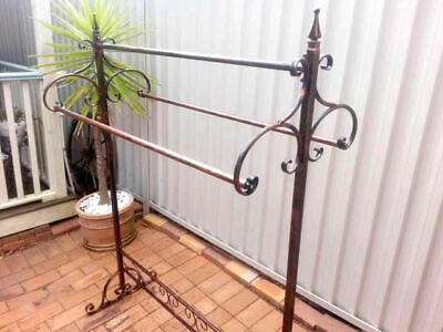 Quality Iron Clothes/Blanket/Quilt Rack 3 Rails used as wardrobe