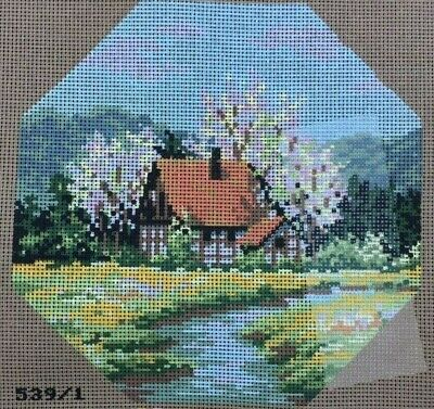 Tapestry - Printed Canvas - Country Cottage - Made in Italy for Coats Patons
