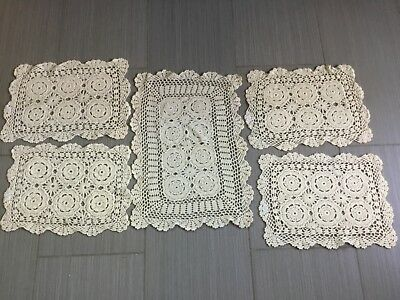 Crocheted new doilies