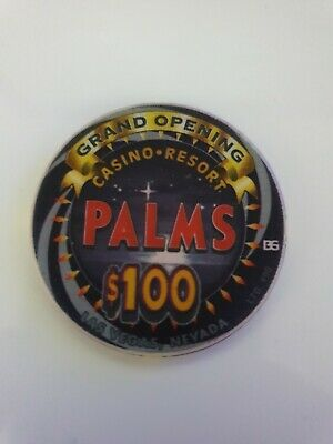 Extremely Rare - Palms Casino $100 Grand Opening Chip - Limited 100