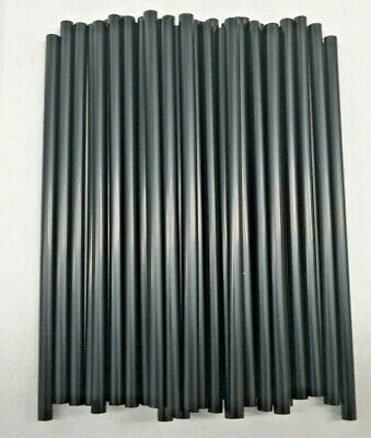 Black Cocktail Plastic Drinking Straws Disposable Party Tableware