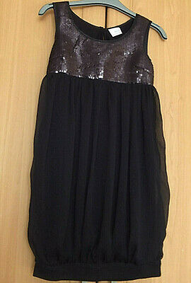 VGC Age 10 yrs NEXT black sequinned party dress perfect condition washable