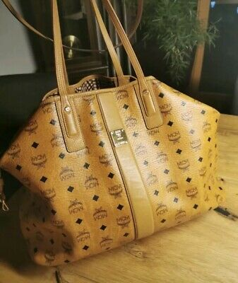 ORIGINAL MCM PROJECT Visetos Reversible Shopper Large Cognac