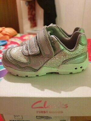 baby girls first walking shoe by early steps size 1-6  in pink patent bnwb