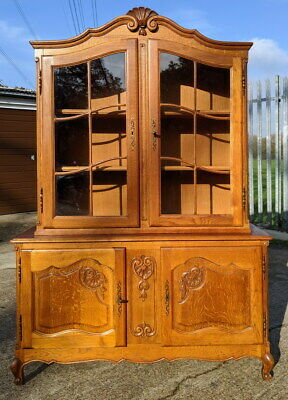 Vintage French Louis XIV Oak Bookcase/ Cabinet / Cupboard /Sideboard