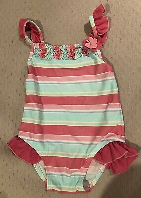 Sprout Size 0 Baby Girls Swimwear Swimmers Togs Frill Sleeve Summer Beach