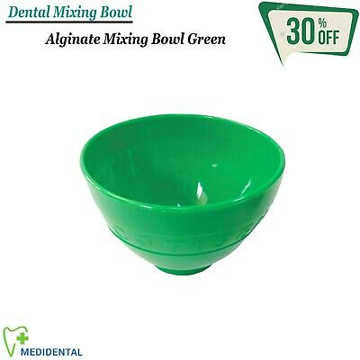 RESTORATIVE Instruments Dental Alginate Wax Mixing Plastic Bowl Green Laboratory