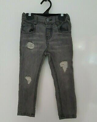 Boys Jeans Size 2 - Stone Wash Style Boys Jeans - Adjustable Waist