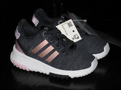 Adidas Racer Tr Inf Running Course A Pied Size 5 Kids Shoes -- Blue/Pink -- Nwt!