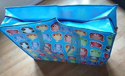 Large Plastic Carry Bag Moving Shopping Clothes Laundry Hold Zip Animal Faces