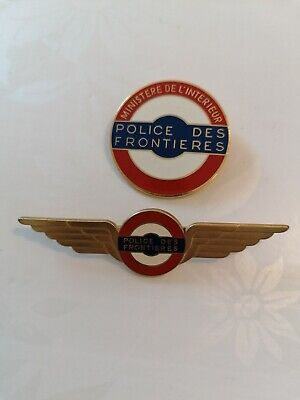 Lot Insignes Obsolètes Police Des Frontières French Badges Insignias