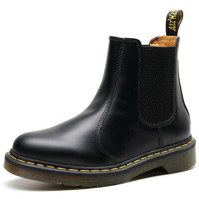 UK Dr Martens 2976 Chelsea Boots Classic Leather Ankle Boots Womens Mens Unisex