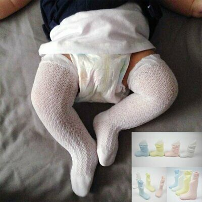 HOT Newborn Infant Baby Girls Summer Cotton Knee High Socks Tights Stockings NEW