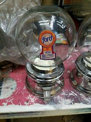 1960's real  FORD GUMBALL MACHINE  With  FREE ford GUMBALL clear door
