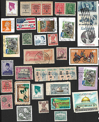 world Wide Collection of Used Stamp on Piecex 195+