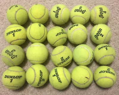 20 Used TENNIS BALLS - DOG TOYS - PROTECT FLOORS from Chair & Table Legs, etc.