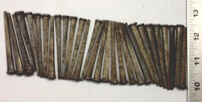 "LOT OF ""BARN FIND"" 30 VINTAGE  NOS UNUSED (rusted) 2 1/2"" INCH SQUARE CUT NAILSs"