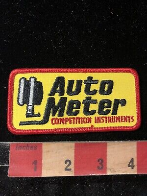AUTO METER COMPETITION INSTRUMENTS Car Part Advertising Patch 00RG