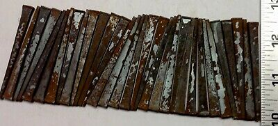 "LOT OF 33 ""BARN FIND"" VINTAGE  NOS UNUSED (rusted) 2 1/2"" INCH SQUARE CUT NAILS"